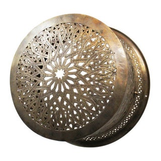 Brass Moroccan Ceiling/Wall Lantern For Sale