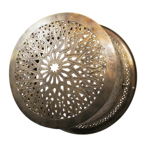 Brass Moroccan Ceiling/Wall Lantern - Image 1 of 2