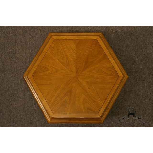 Drexel Esperanto Collection Hexagonal Storage End Table For Sale - Image 10 of 13