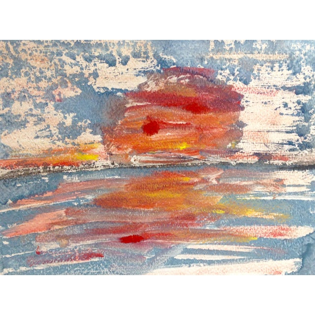 """Orange Sun"" Ink Print, 2016 - Image 1 of 4"