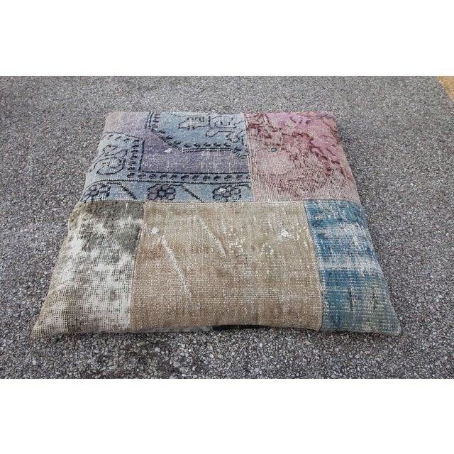 Vintage Turkish Patchwork Floor Pillow - Image 2 of 5