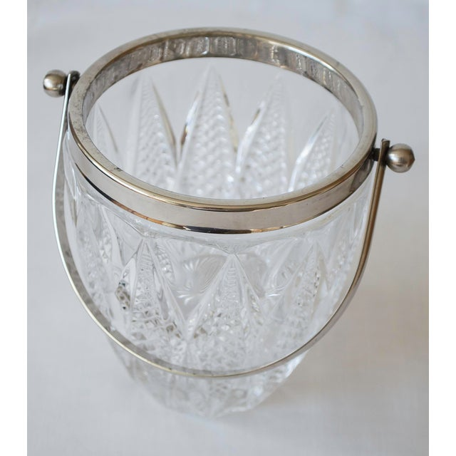 Vintage Crystal and Silver Platted Ice Bucket - Image 2 of 6