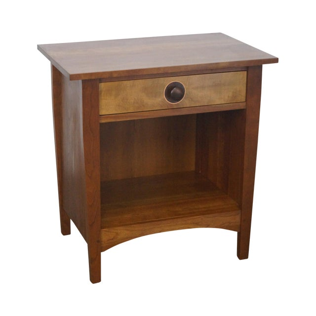 Stickley Mission Style Solid Cherry Nightstand - Image 1 of 10