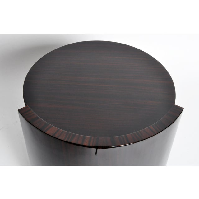 Contemporary Round Mid-Century Style Tables - a Pair For Sale - Image 10 of 11
