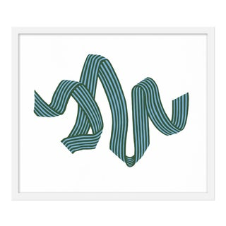 "Medium ""Pine Stripe Ribbon"" Print by Angela Chrusciaki Blehm, 24"" X 21"" For Sale"
