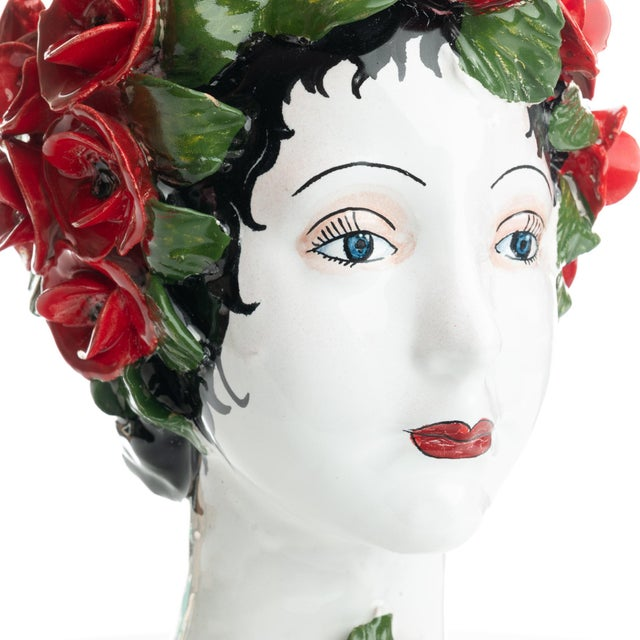 Sculpture with Roses, Ceramiche D'arte Dolfi For Sale In San Francisco - Image 6 of 12