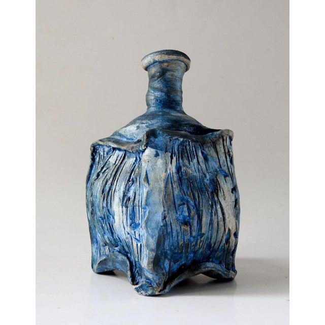 Ceramic Studio Raku Pottery Bottle or Vase For Sale - Image 7 of 7