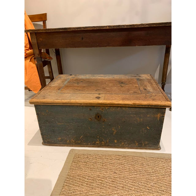 Early American trunk. Perfect coffee table or between 2 club chairs!