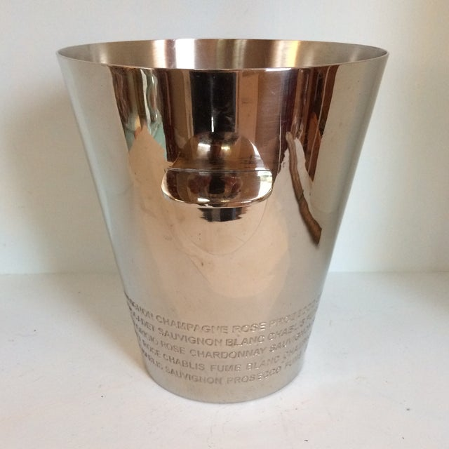Chrome Plated White Wine Bottle Cooler and Champagne Ice Bucket For Sale - Image 4 of 13