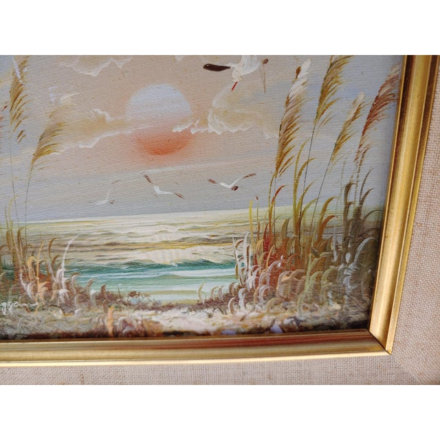 """""""Birds and Sea"""" Vintage Oil Painting by Bernard Duggan For Sale - Image 4 of 8"""