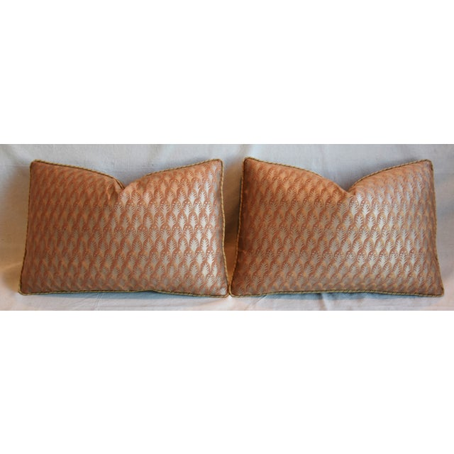 """Italian Mariano Fortuny Piumette Feather/Down Pillows 23"""" X 15"""" - Pair For Sale In Los Angeles - Image 6 of 13"""