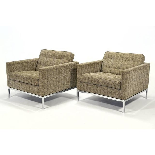 Florence Knoll Tuxedo Lounge Chair, Pair - Image 5 of 8
