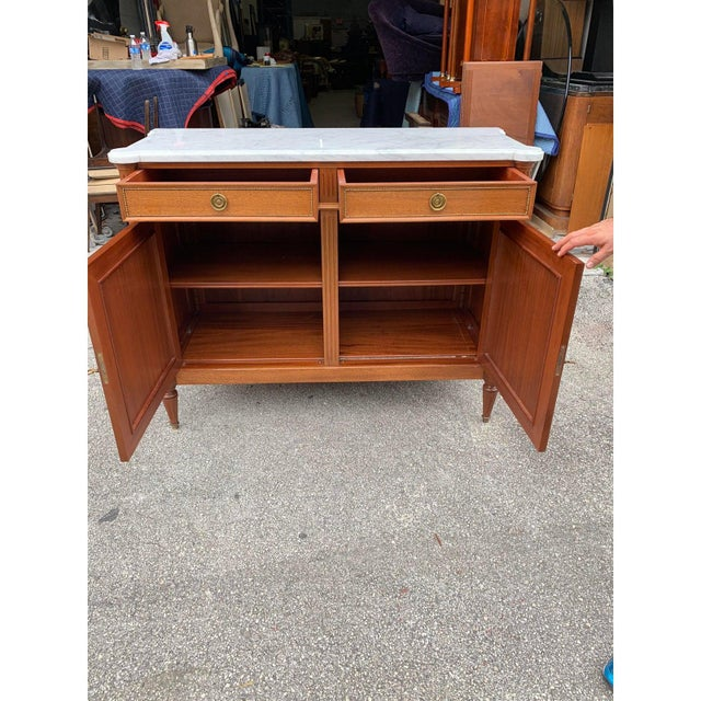 1910s French Louis XVI Antique Mahogany Sideboard or Buffet For Sale In Miami - Image 6 of 13