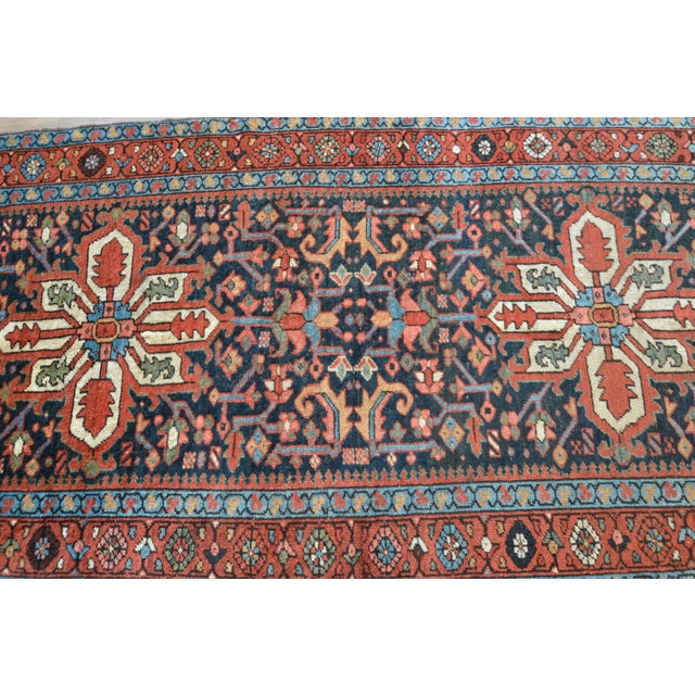 Antique Persian Heriz Karajeh Runner- 3′6″ × 8′10″ - Image 7 of 11