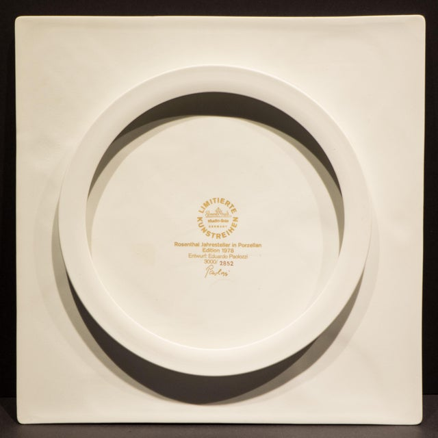 White Eduardo Paolozzi Plaque for Rosenthal For Sale - Image 8 of 9