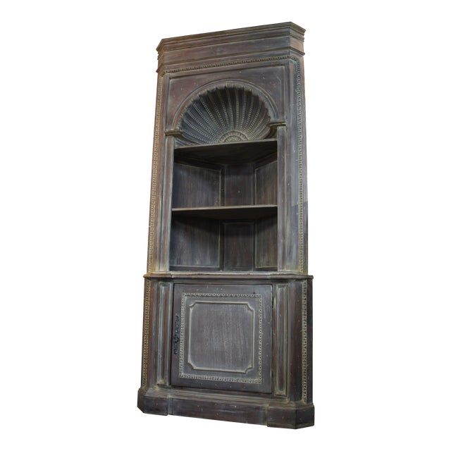 Country French Distressed Corner Cabinet - Image 1 of 11