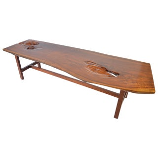 Early James Martin Free Edge Coffee Table, Signed 1962 For Sale