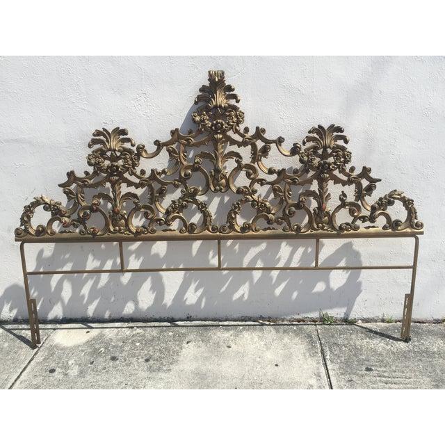 Baroque-Style Metal King Headboard - Image 2 of 6