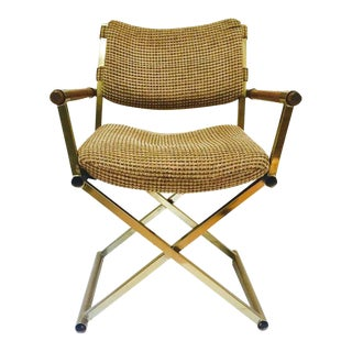 Vintage Mid Century Modern Campaign Style Director's Chair For Sale