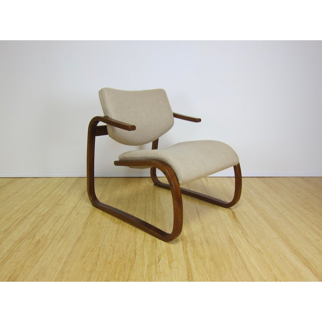 Tan 1970s Danish Modern Oddvin Rykken Cantilever Bentwood Lounge Chair For Sale - Image 8 of 11