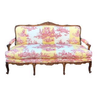 Antique Louis XV Style French Provincial Sofa Settee W Brunschwig & Fils For Sale