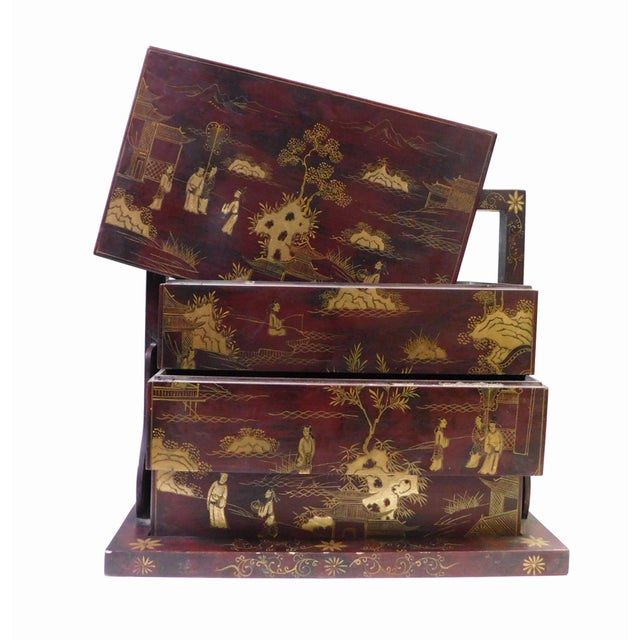 Handmade Brown & Gold Graphic Wedding Box - Image 5 of 6