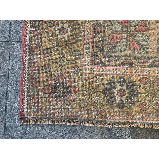 Handwoven Antique Turkish Wool Rug - 3′7″ × 5′11″ For Sale - Image 9 of 10