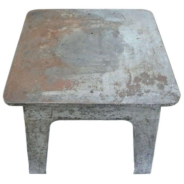 Industrial Steel Industrial Side Table For Sale - Image 3 of 6