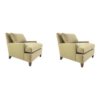 Barbara Barry for Henredon Gold Tailor Made Chairs Pair For Sale