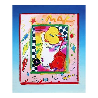 Peter Max Lady Profile 1998 For Sale