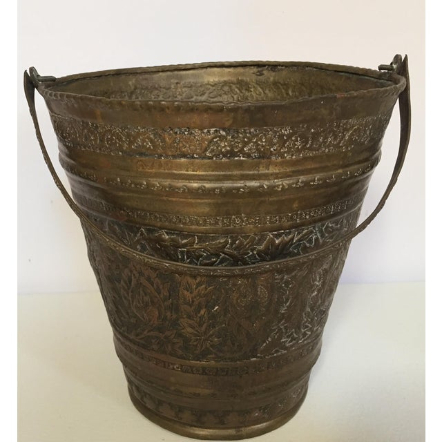 Anglo-Raj Mughal Bronzed Copper Vessel Bucket For Sale - Image 12 of 12