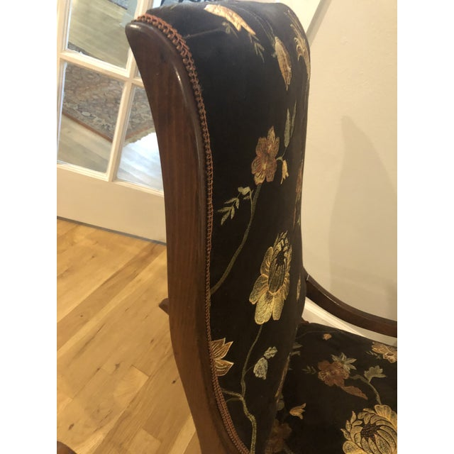 Wood Antique Mahogany Low Arm Rocker For Sale - Image 7 of 10