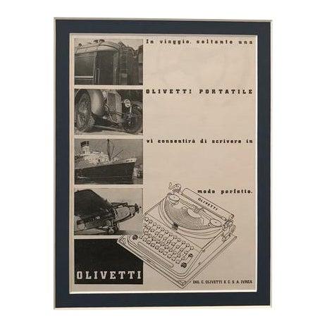 1940 Original Italian Poster, Olivetti Advertisement - Typewriter For Sale