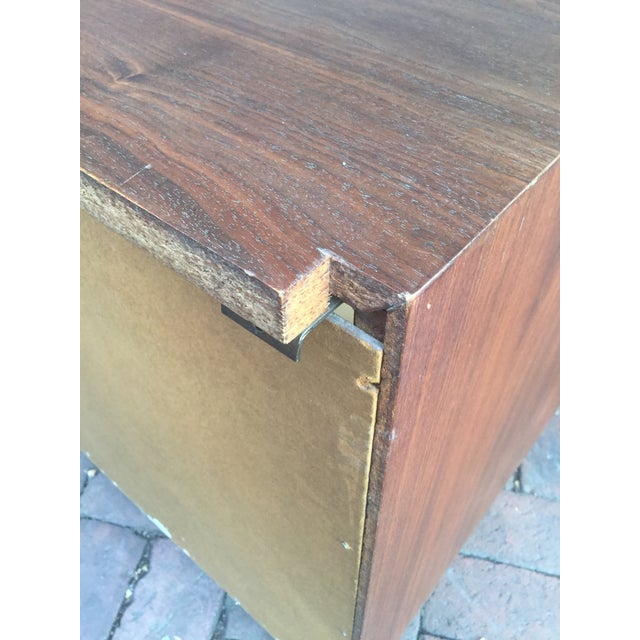Metal 1960s Vintage Jack Cartwright for Founders Walnut Bachelor's Chest For Sale - Image 7 of 8