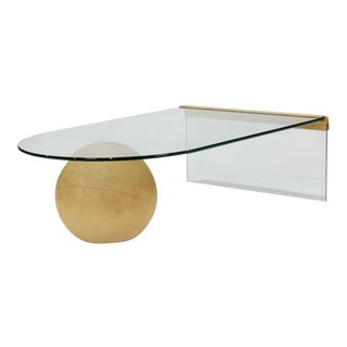 Final Markdown > 1960s Glass and Stoner Ball Coffee Table For Sale