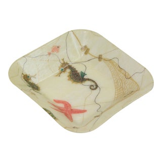 Small Fiberglass Tray with Seahorses For Sale