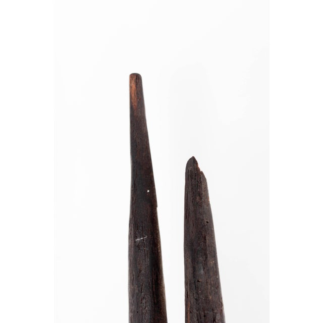 Brown Hand-Carved African Antelope Sculpture For Sale - Image 8 of 11