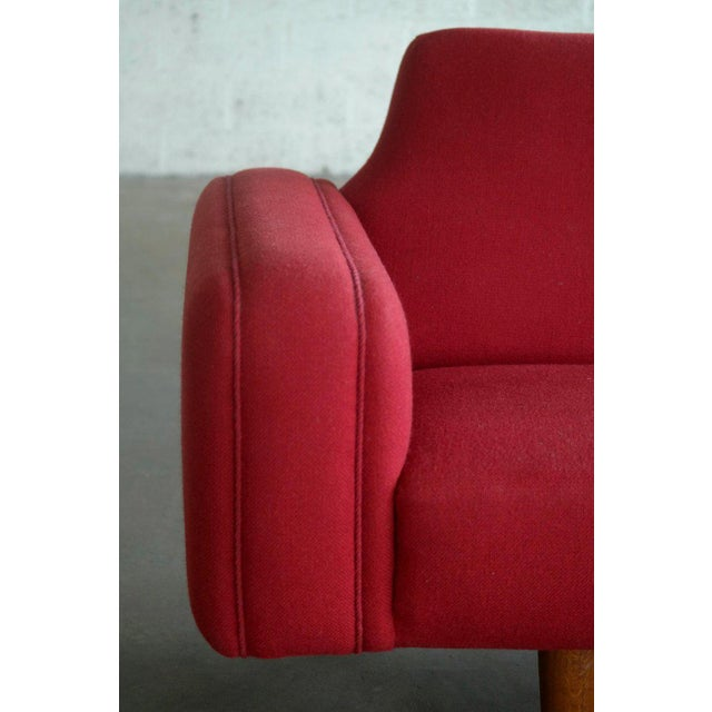 Red Large Danish 1960s Illum Wikkelso for Aarhus Model 450 Curved Sofas - a Pair For Sale - Image 8 of 13