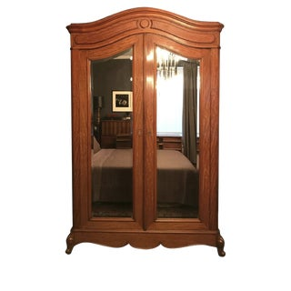 19th Century French Walnut Wardrobe/Armoire For Sale