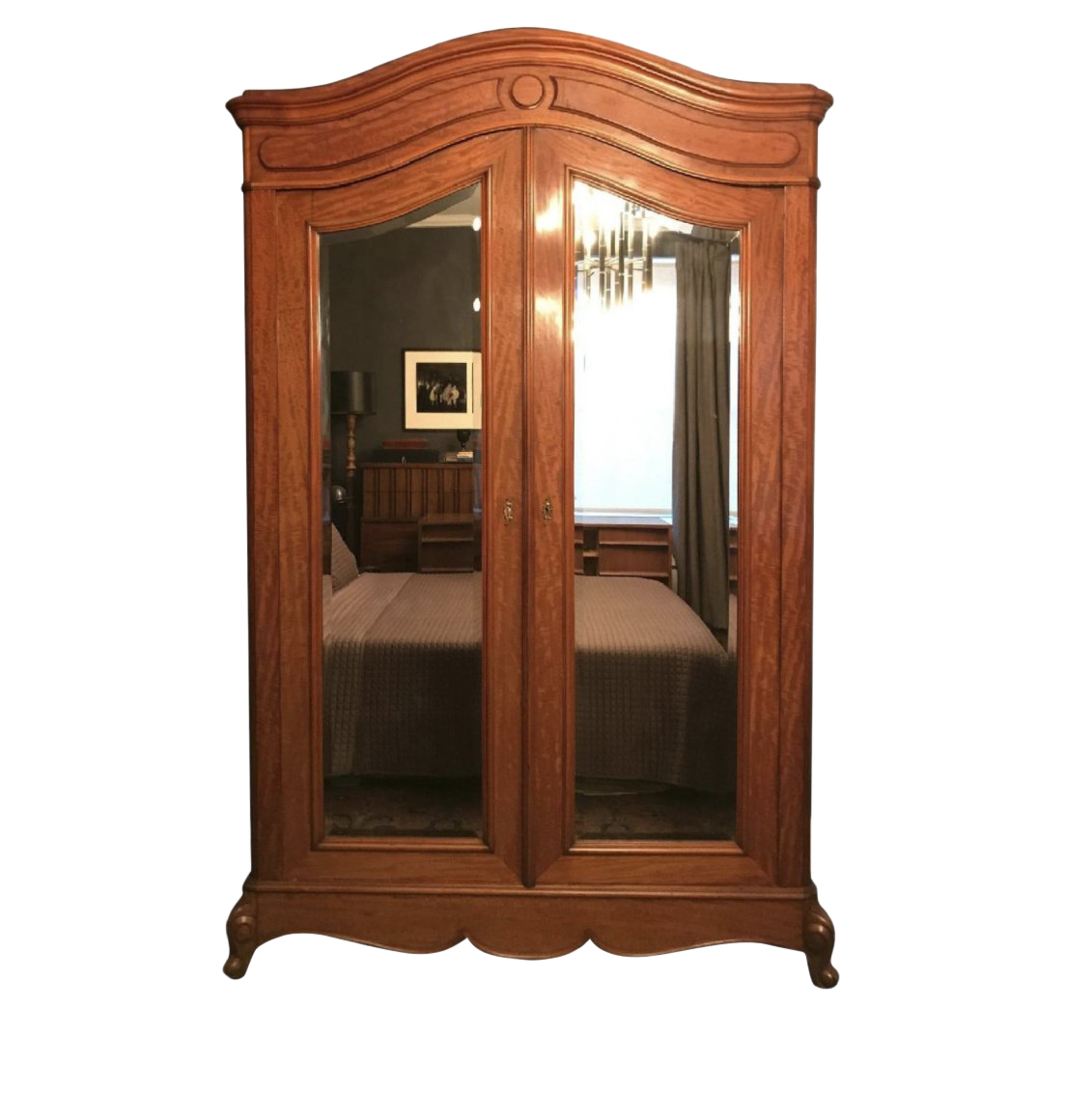 19th Century French Walnut Wardrobe/Armoire