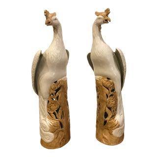 Ceramic Bird Figurines- A Pair For Sale