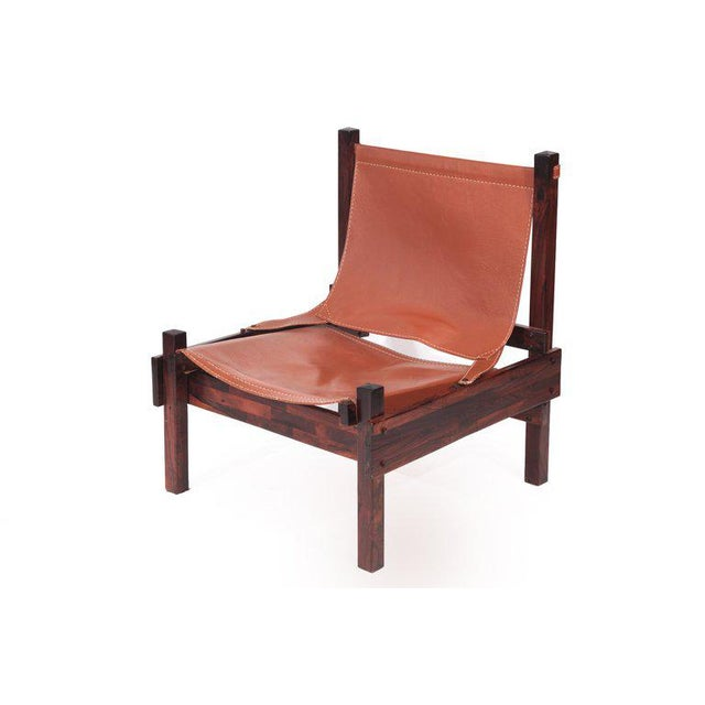 Rare Jorge Zalszupin Chair and Ottoman For Sale In Phoenix - Image 6 of 8