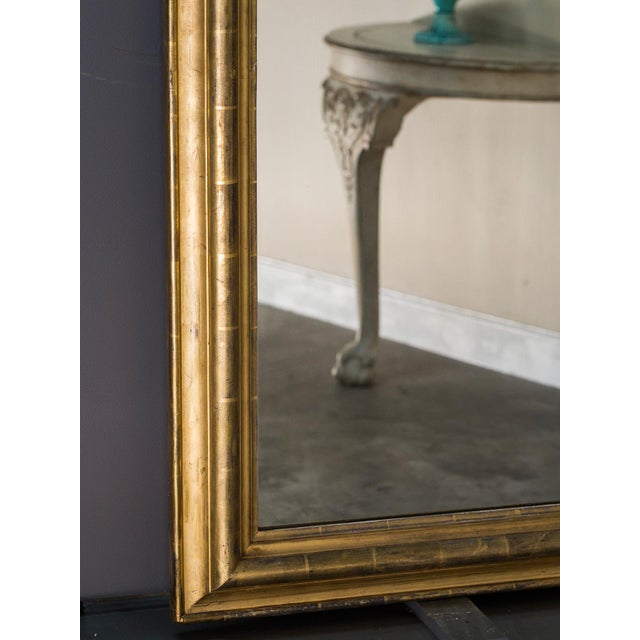 Antique French Louis Philippe Mirror with a Cartouche circa 1890 For Sale In Houston - Image 6 of 10
