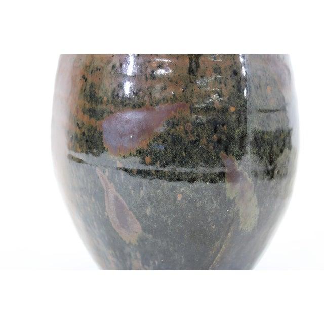 Ceramic Japanese Mid-Century Modern Studio Pottery Vase For Sale - Image 7 of 9