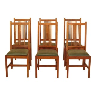 Stickley Mission Style Cherry Dining Room Chairs - Set of 6