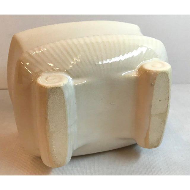 Ceramic Vintage Mid Century Cream Ceramic Planter For Sale - Image 7 of 8
