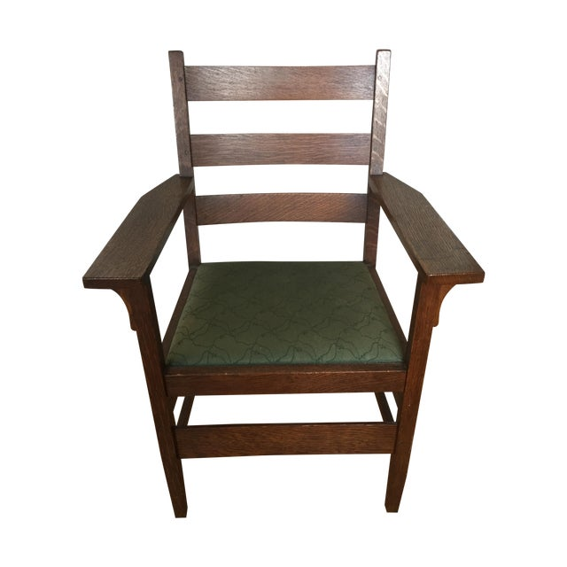 Gustav Stickley Antique Side Chair - Image 1 of 7