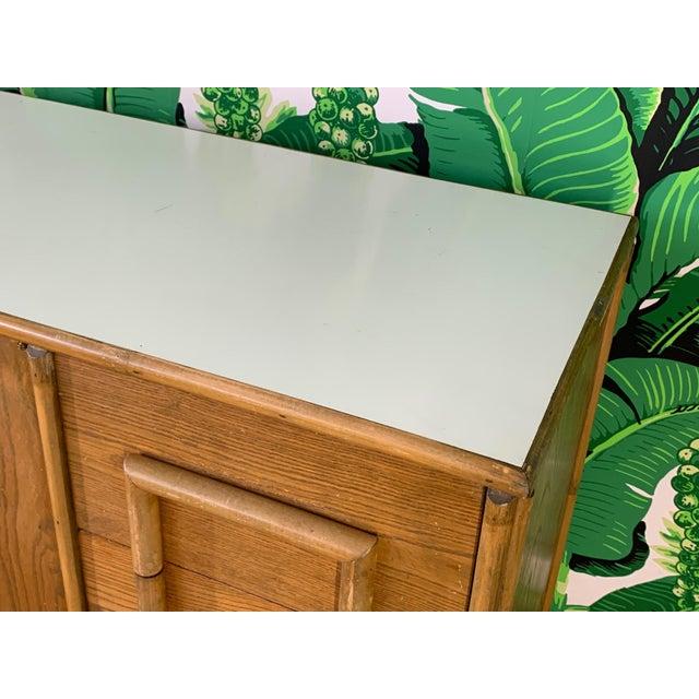 Wood Polynesian Tiki Style Rattan Dresser For Sale - Image 7 of 11