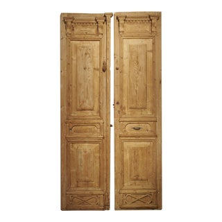 Pair of Antique French Egyptian Doors, Early 1900s For Sale
