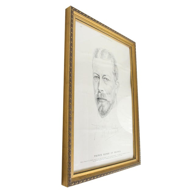 """1900 - 1909 Antique Framed Prince Henry of Prussia Page From """"Harper's Weekly,"""" 1902 For Sale - Image 5 of 6"""